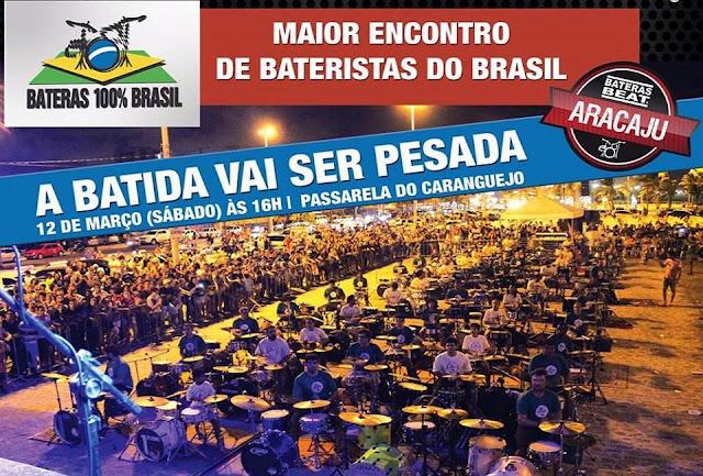 Bateristas realizarão encontro em Aracaju