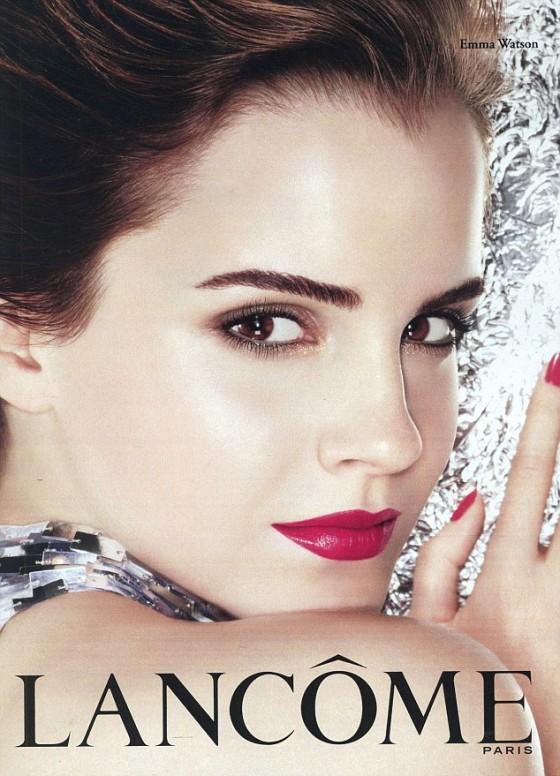 Emma Watson for Lancome lipsticks ad campaign   HOT ...