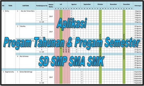 Download Aplikasi Progam Tahunan Dan Progam Semester SD SMP SMA SMK
