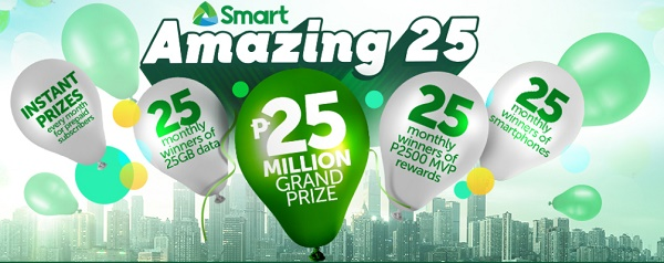 Win 25 Million Pesos with Smart Amazing 25 Promo