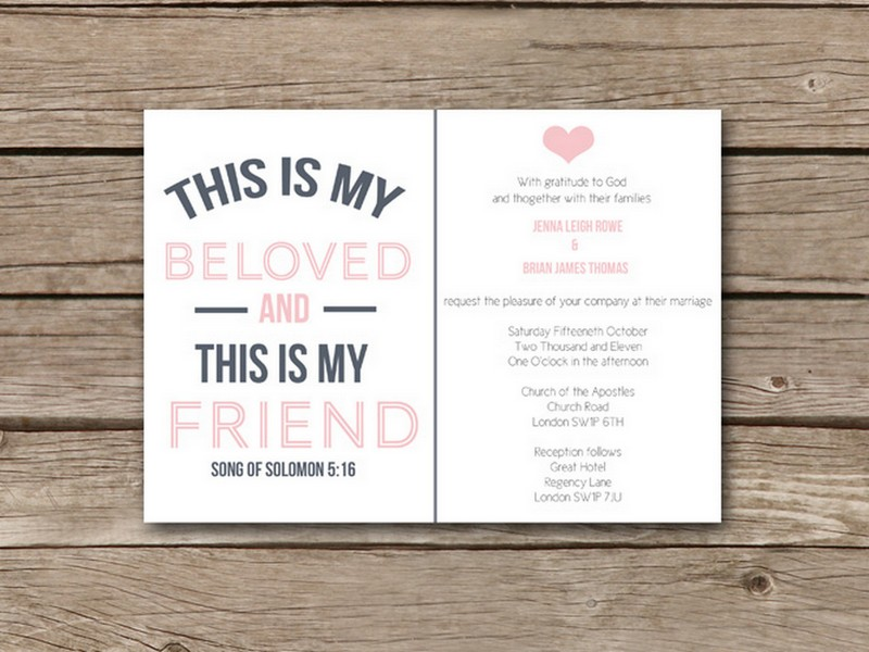 Christian Wording For Wedding Invitations: Christian Themed Wedding