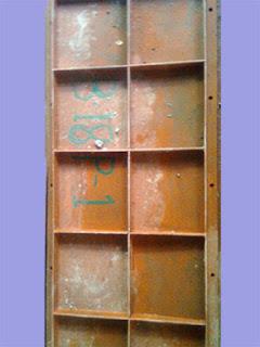 Steel column side for form work