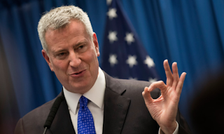 New York Mayor Bill the Blasio likes himself to Thomas Edison Henry Ford Mahatma Gandhi