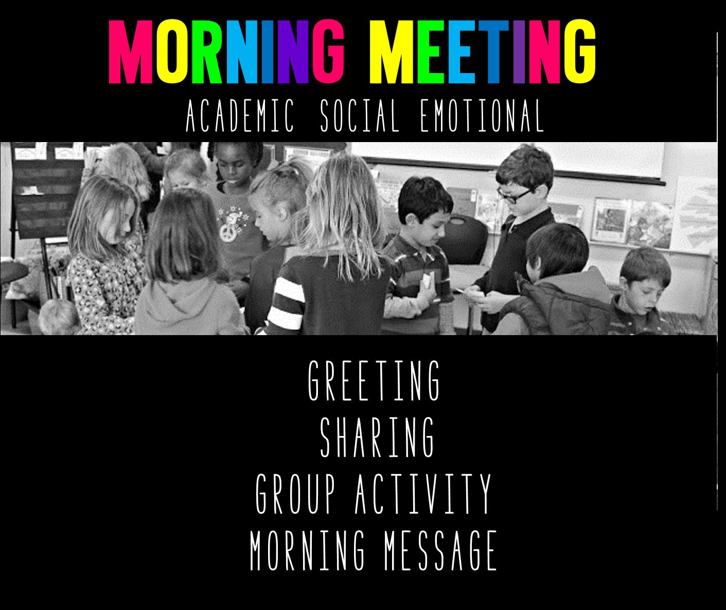 Morning Meeting: Let's Discuss - Tunstall's Teaching Tidbits