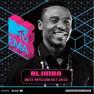 MTV Award winner Ali Kiba thanks his fans.