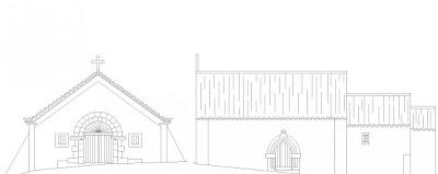 Alçado (Church Elevation) da Igreja de São Salvador do Mundo, Castelo de Vide, Portugal