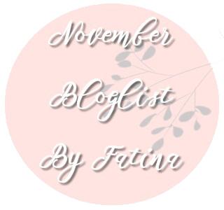 november bloglist segment by fatina