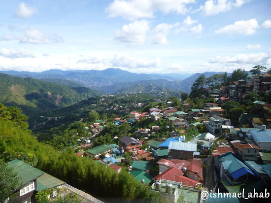 View of the Cordillera mountains from Good Shepherd Convent in Baguio