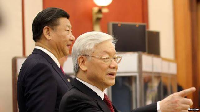 Ông Tập Cận Bình trong chuyến thăm Việt Nam cuối năm 2017