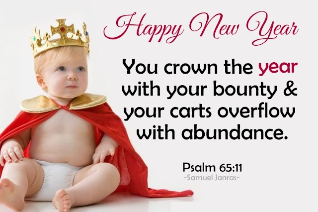 You Crown the Year - Happy New Year Greetings