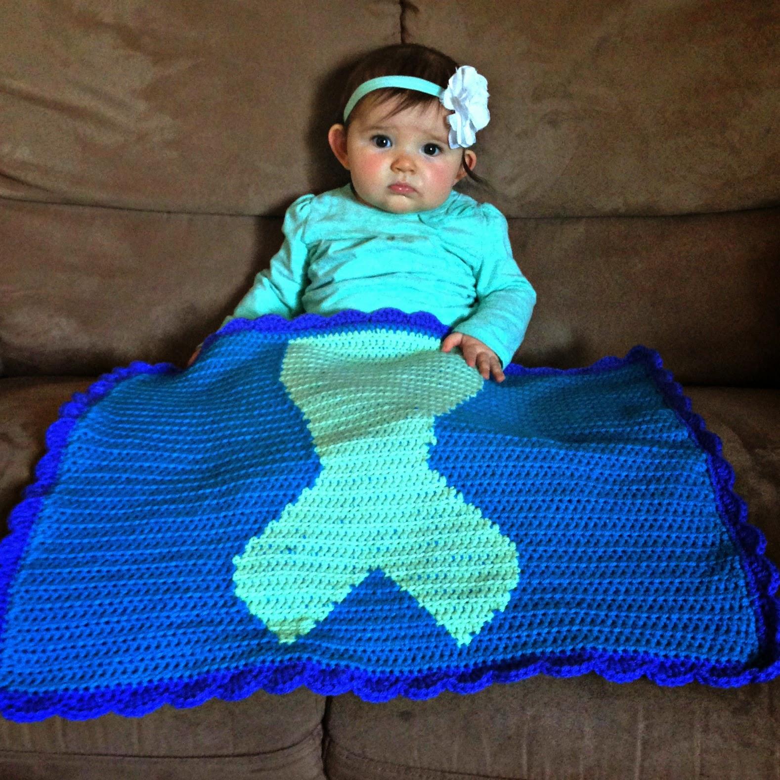 Free Crochet Mermaid Tail Blanket Pattern - The Friendly ...