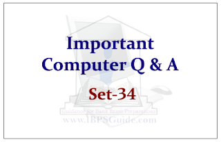 Important Computer Questions for Upcoming IBPS RRB Exams 2015 Set-34