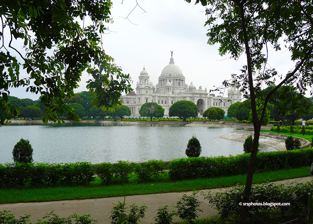 Beautiful Landscape View of Victoria Memorial, Kolkata