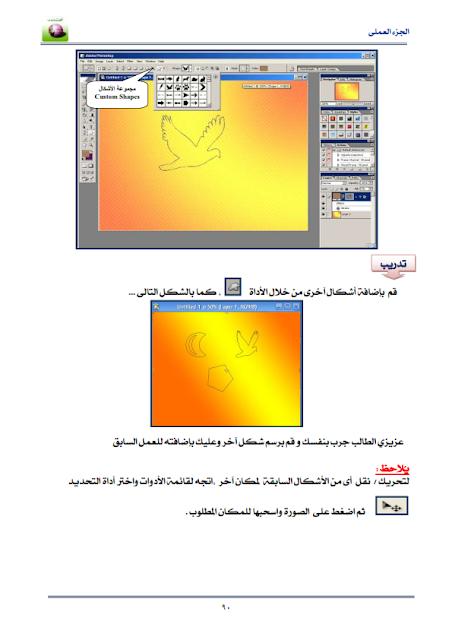 بالصور تعليم برنامج Photoshop الدرس الثانى
