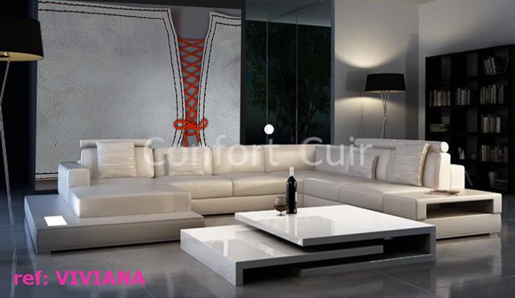 salon moderne cuir. Black Bedroom Furniture Sets. Home Design Ideas