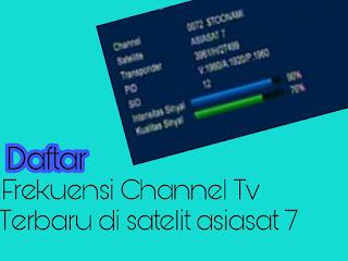 Daftar Frekuensi  Channel Tv Terbaru Di Satelit Asiasat 7 105°E