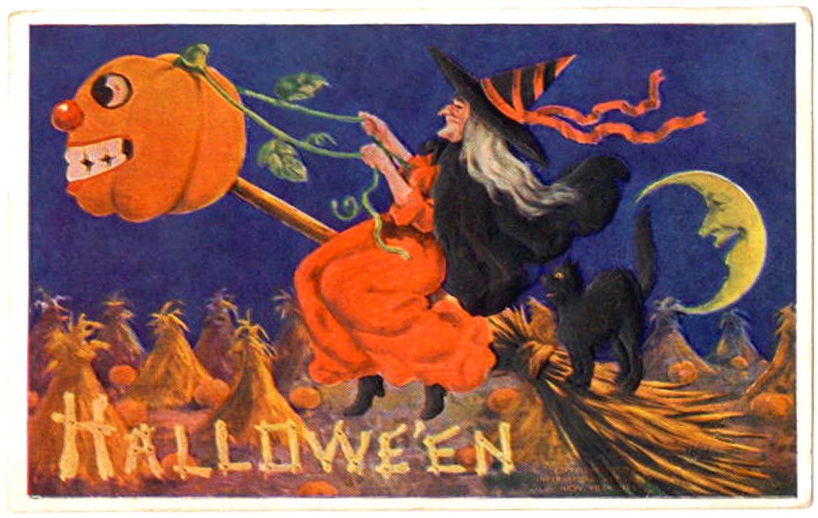 Bloody Pit of Rod: Vintage Halloween Post Cards