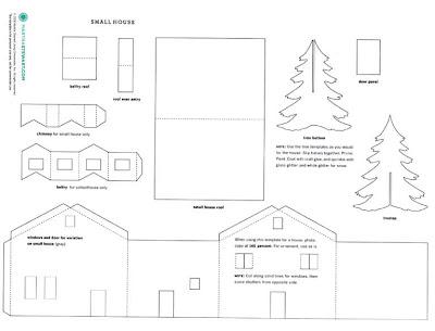 sous mon arbre maisons en papier. Black Bedroom Furniture Sets. Home Design Ideas