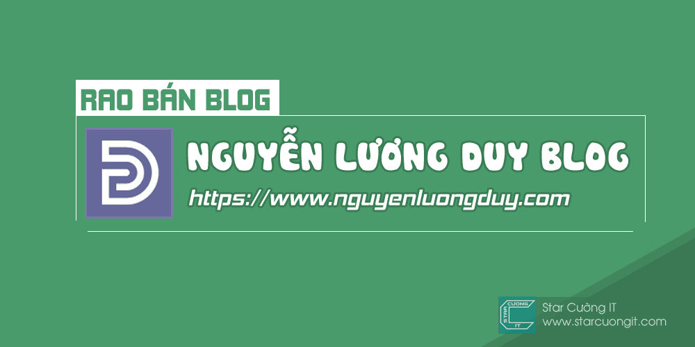 [RAO BÁN BLOG] Cần Bán Blog Nguyễn Lương Duy