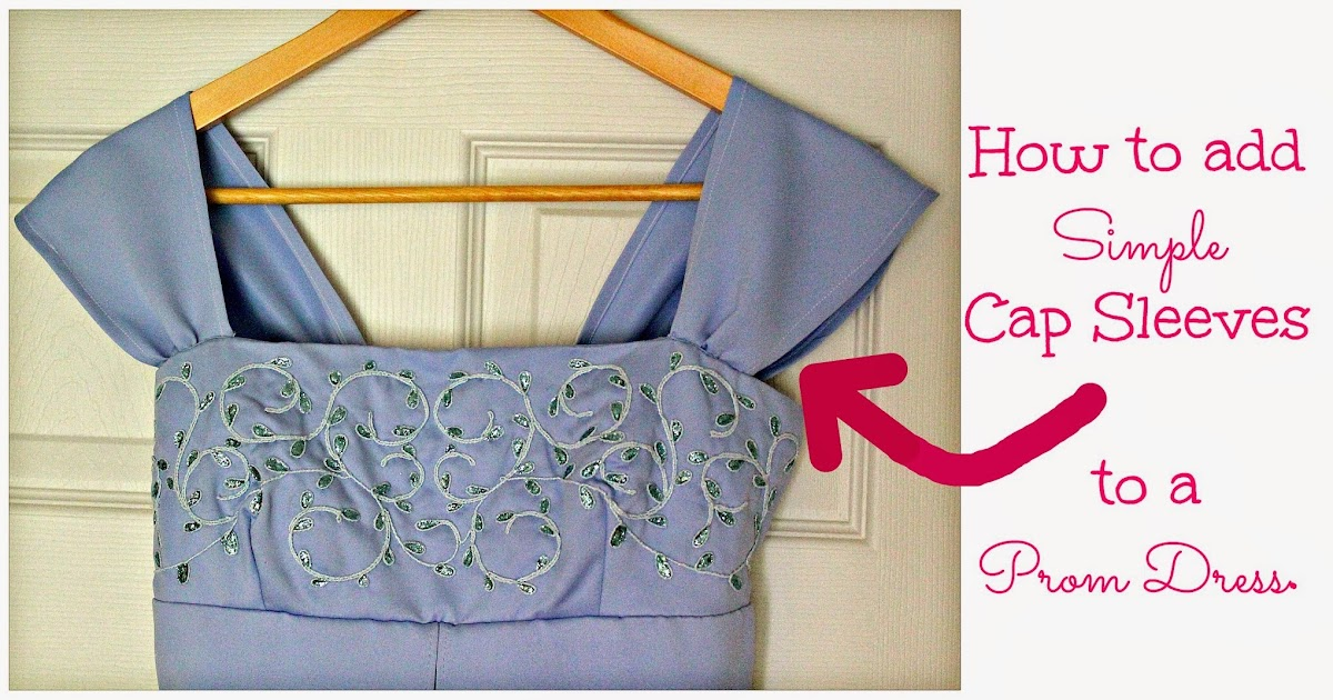 Freshly Completed: How To Add Cap Sleeves To A Spaghetti