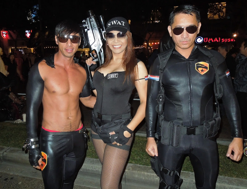 Sexy SWAT team West Hollywood Halloween Carnaval 2012
