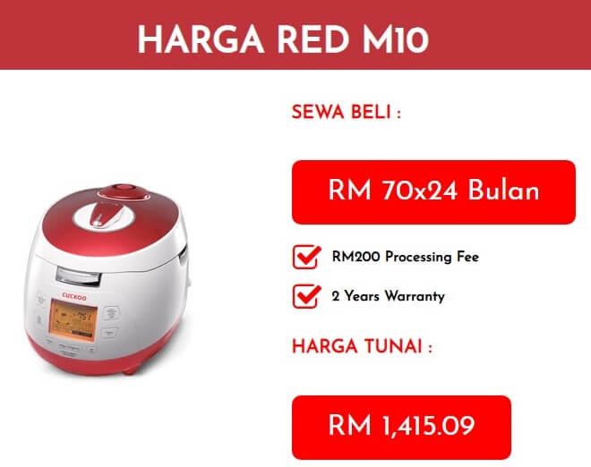 Harga Cuckoo RED M10