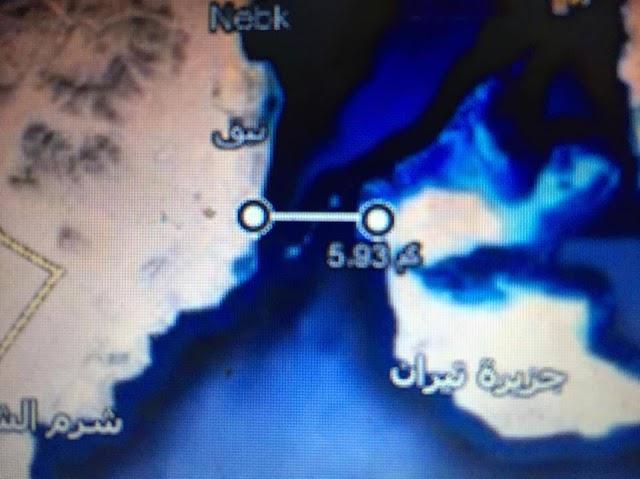 قيس المسافة بيى الجزر و مصر و السعودية