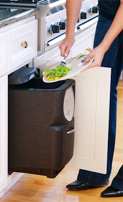 composter in kitchen cabinet