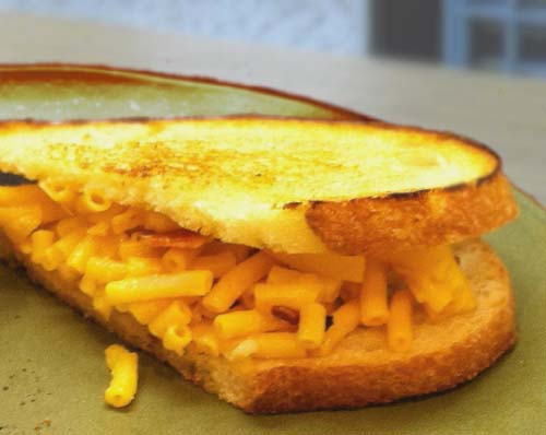 #2. Grilled Macaroni and Cheese Sandwich. CLICK For More Mac n' Cheese Ideas