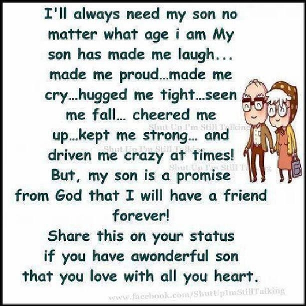 Cute Mom and son quotes sayings poems Images