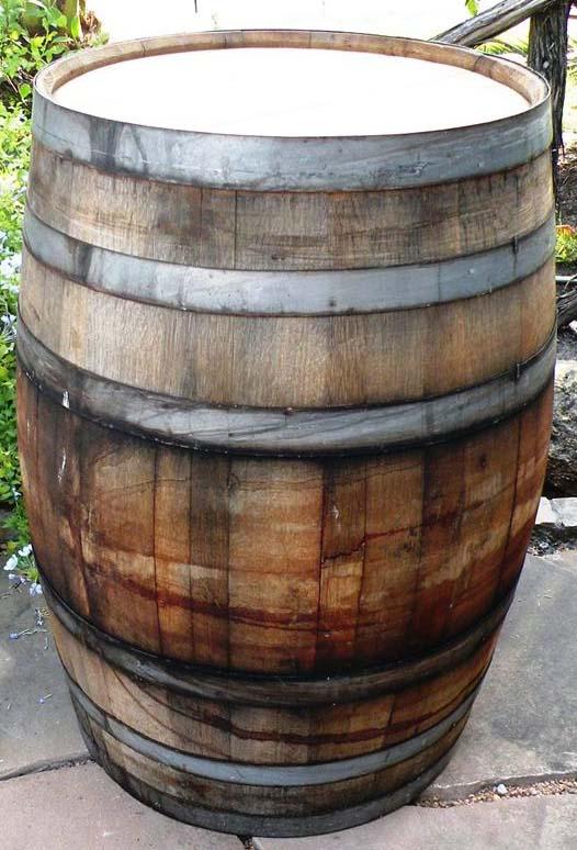 Outdoor Kitchen Rustic Outdoor Wooden Wine Barrel