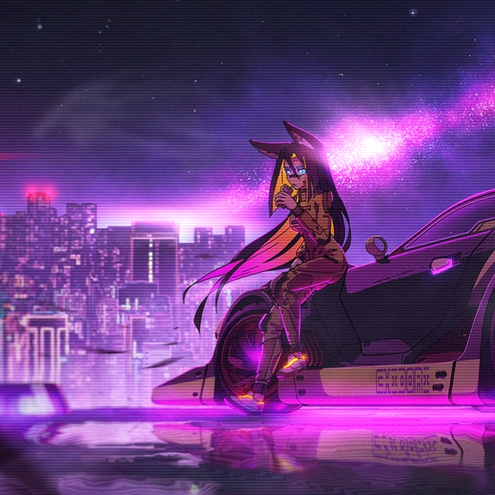 Anime Girl Cyberpunk Animated Wallpaper Animated Live Desktop Wallpapers