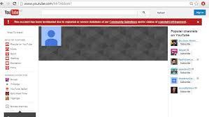 Status akun Youtube yang terkena suspend