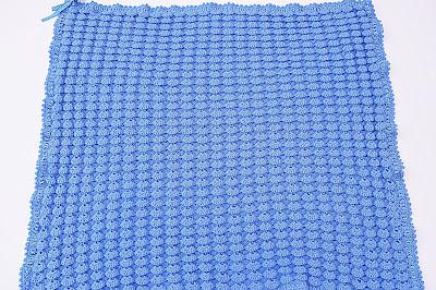1 - Crochet, imagen linda sencilla cobija a relieve. Majovel Crochet