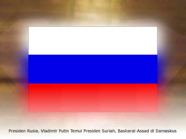 Presiden Rusia, Vladimir Putin Temui Presiden Suriah, Basharal-Assad di Damaskus