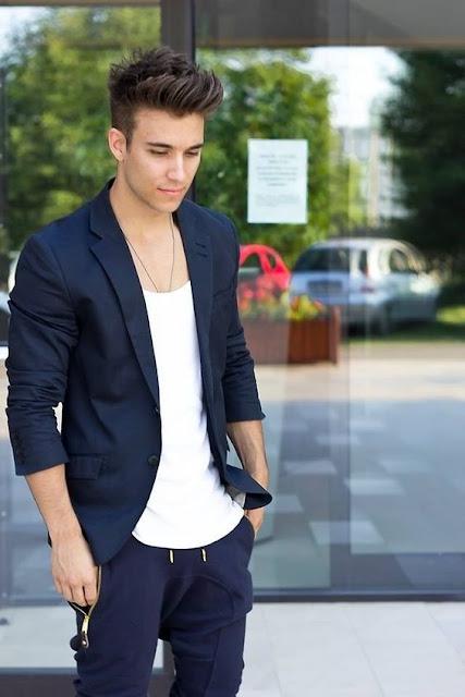Blazer masculino com bermuda