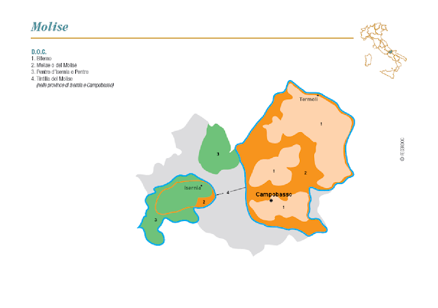 map of wine region of Molise
