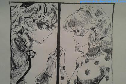 Dibujos De Ladybug Y Cat Noir A Lapiz