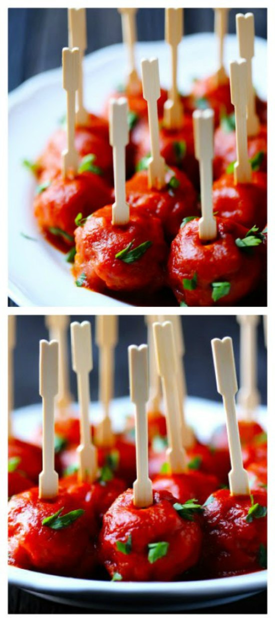 Slow Cooker Easy Meatballs (with Smoked Paprika Sauce) from Gimme Some Oven featured on SlowCookerFromScratch.com