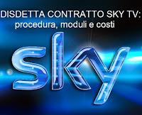 come si fa la disdetta del contratto sky: moduli e costi