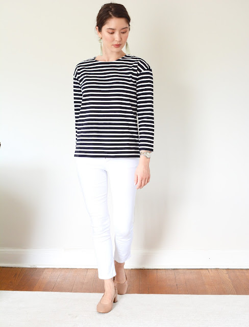 Everlane Breton Cotton Tee Day Heel Review Photos Petite