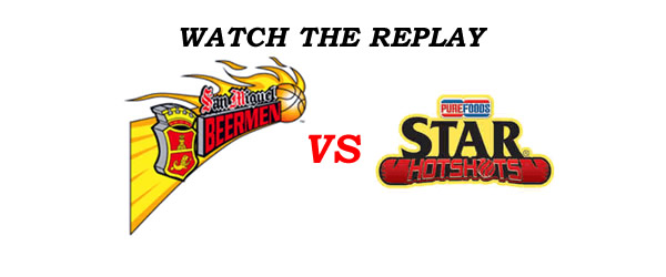 List of Replay Videos SMB vs Star @ Smart Araneta Coliseum November 20, 2016