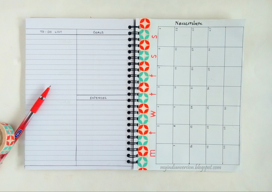 Dot Calendar Bullet Journal : My indian version bullet journal monthly layout ideas