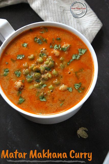 Green Peas Foxnut Curry | Matar Makhana Curry