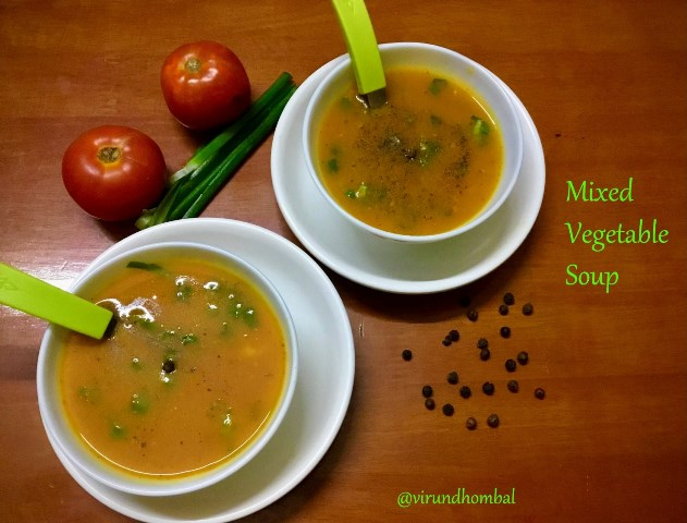 Mixed vegetable soup recipe | How to prepare Mixed vegetable soup | Soup recipes