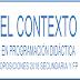 CONTEXTO EN  PROGRAMACIÓN DIDÁCTICA OPOSICIONES  SECUNDARIA Y FP
