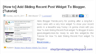 [How to] Add Automatic post summary with thumbnail on blogger[Tutorials]