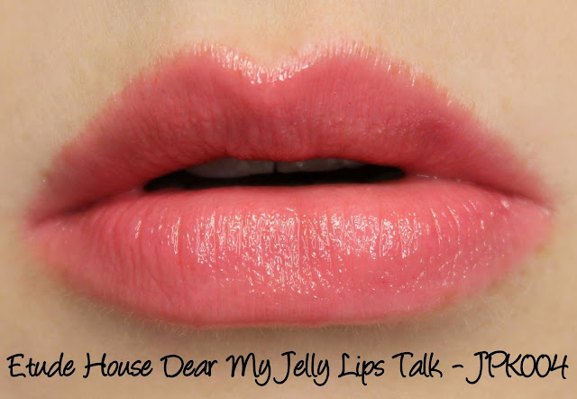 Etude House Sweet Recipe - My Dear Jelly Lips Talk JPK004 Swatches & Review