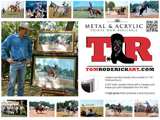 Cowboy and Rodeo art by Boulder artist Tom Roderick