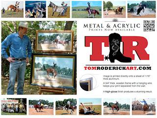 Cowboy and Rodeo art by Boulder artist Tom Roderick